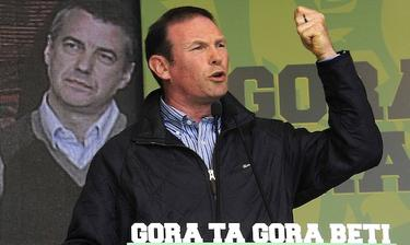 José Ibarretxe, durante un mitin político | Cordon Press