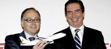 El consejero delegado de IberiaExpress, Luis Gallego, y el consejero delegado de Iberia, Rafael Sánchez-Lozano |Efe