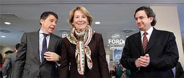 González, Aguirre y Miguel Ángel López, del PP de Parla | CAM