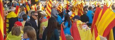 Manifestación del 12-O en Barcelona. | Archivo