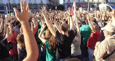 Los indignados celebran el aniversario del 15-M.