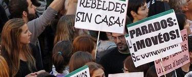 Imagen de una manifestación contra los recortes. | Archivo
