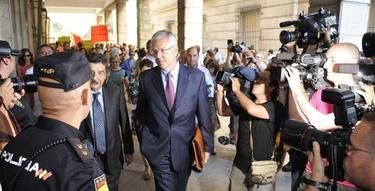 Manuel Gómez, a su entrada a los juzgados | EFE