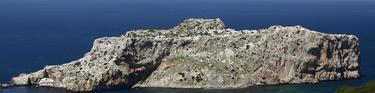 Una imagen de archivo de la pequeña isla