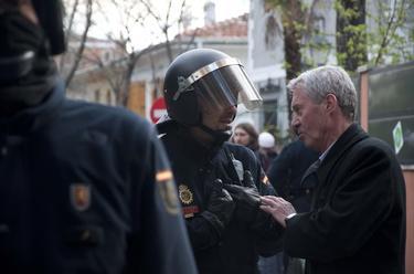 Vestrynge, durante el acoso a Soraya | David Alonso Rincón.