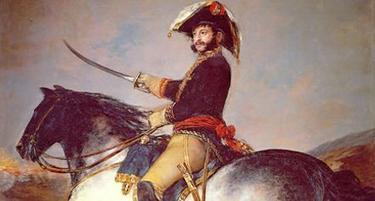 Detalle del retrato ecuestre de José Palafox