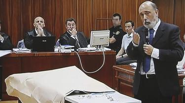 Francisco Etxeberria, durante su declaración en el juicio | EFE