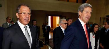 El ministro de Exteriores ruso, Lavrov, y el secretario de Estado de EEUU, Kerry | Cordon Press