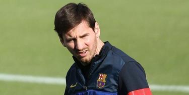 Leo Messi, durante un entrenamiento del Barça. | Archivo