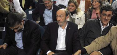 López, Rubalcaba y Madina en un acto pasado en San Sebastián | Cordon Press