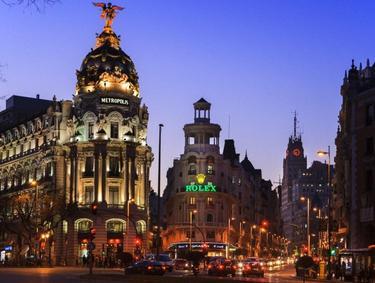 Alumbrado público en Madrid | Corbis