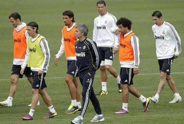 Último entrenamiento del Madrid antes de la final de Copa. | EFE