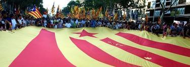Estelada en una manifestación secesionista en Cataluña