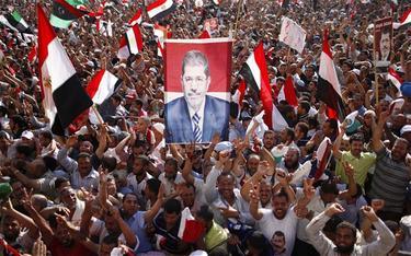 Una imagen de Mohamed Morsi en una manifestación | Archivo