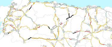 Tramos de riesgo en el noroeste de España. | RACC