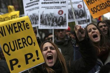 Miles de estudiantes han protestado contra la ley Wert | Cordon Press