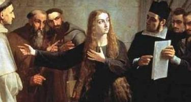 Detalle de 'Mariana Pineda en capilla', obra de Juan Antonio Vera Calvo