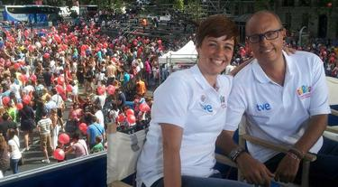 Marta Solano, junto a Ernest Riveras | @Martasolano_tve