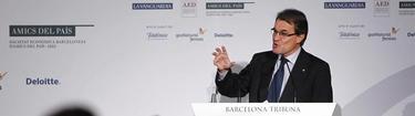 Artur Mas en el acto de este lunes | EFE
