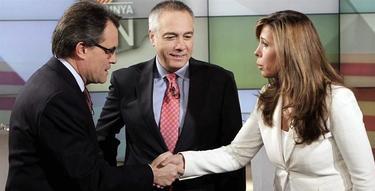 Mas, Navarro y Sánchez Camacho, antes del debate | EFE
