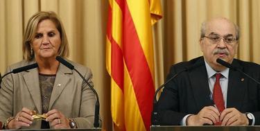 Nuria de Gispert y Mas-Colell, en la entrega de presupuestos para Cataluña | EFE