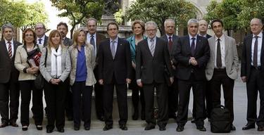 Artur Mas y los miembros del consejo | Efe