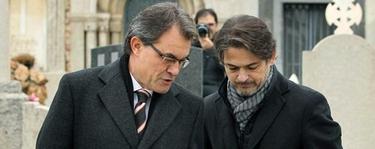 Mas con Oriol Pujol en el homenaje a Macià | EFE