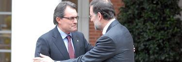 Artur Mas y Mariano Rajoy, en un reciente encuentro en Moncloa | EFE