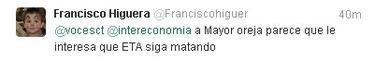 El tweet de Higuera | Twitter