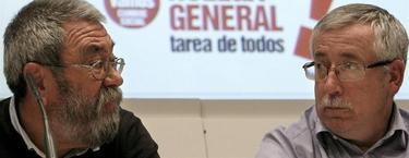 Méndez y Toxo durante la rueda de prensa de este viernes | EFE