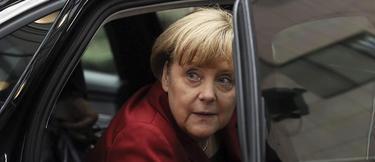 Angela Merkel a su llegada a la cumbre