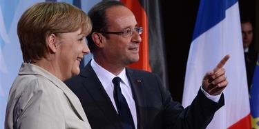 Merkel y Hollande, en Berlín   EFE