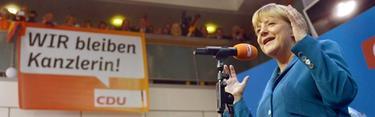 Merkel, este domingo tras conocer los resultados   Efe