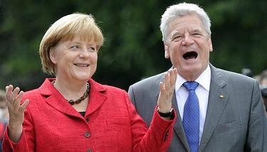 Merkel y el presidente alemán Joachim Gauck .