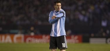 Leo Messi, durante el partido de la selección argentina. | EFE