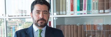 El director de Economía y Políticas Públicas de FAES, Miguel Marín, en las instalaciones de la Fundación | L.F.Q/LD