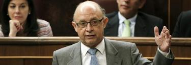 Cristóbal Montoro, hace unos días, en el Congreso. | EFE