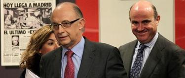 El ministro de Economía, la vicepresidenta del Gobierno y el ministro de Hacienda.