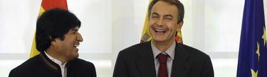Zapatero y Morales en La Moncloa, en 2009. | Cordon Press