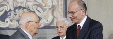 Napolitano, junto a Letta este sábado | EFE
