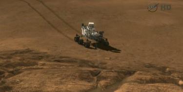 Animación del vehículo explorador Curiosity. | Efe