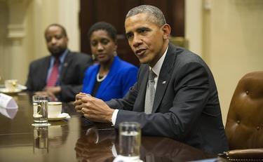 Barack Obama, durante una reunión.   Cordon Press