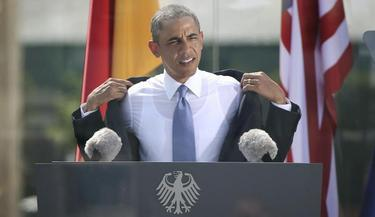 Obama se quitó la chaqueta durante su discurso | EFE