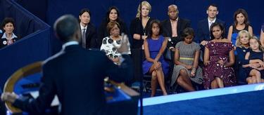 El presidente estadounidense, Barack Obama, en la clausura de la convención del Partido Demócrata. | EFE