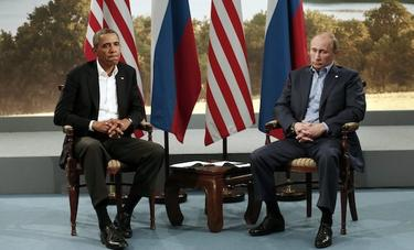 Barack Obama y Vladimir Putin, durante una reunión | Cordon Press