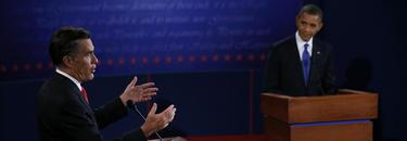 Romney y Obama en un momento del debate. | Cordon Press