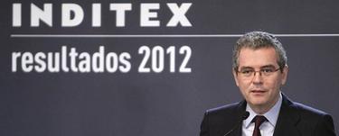 El presidente de Inditex, Pablo Isla, durante la presentación de los resultados de 2012, EFE.