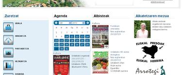 Página web del ayuntamiento de Busturia. | LD
