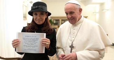 Cristina, cuando fue recibida por el Papa | Archivo