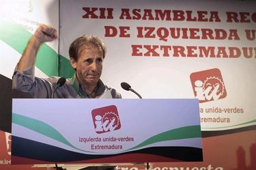 Pedro Escobar, durante la Asamblea   EFE